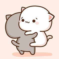 Cute Anime Cat, Cute Bunny Cartoon, Cute Cartoon Images, Cute Kawaii Animals, Cute Love Cartoons, Cute Cartoon Wallpapers, Animes Wallpapers, Kawaii Anime, Cute Bear Drawings