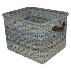 Threshold™ Seagrass Large Milk Crate - Antique Blue