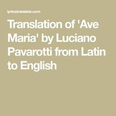 Ave Maria Latin Translation