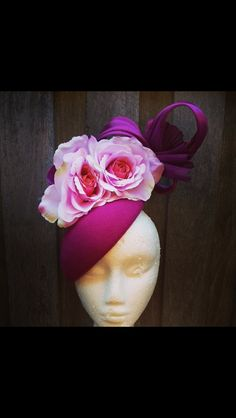 Excited to get this bad boy from Locopa Designs - millinery, felt, pink, purple, flowers