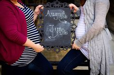Sharing pregnancy with your BFF. Friend Pregnancy Photos, Sister Maternity Pictures, Sister Pictures, Baby Pictures, Pregnancy Meals, Fake Pregnancy, Pregnancy Ultrasound, Pregnancy Facts, Women Pregnancy