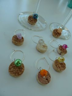 Beaded Corks Wine Glass Charms by TheBeadedCork on Etsy, $12.00