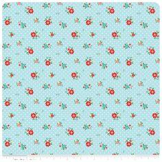 The Simple Life - Aqua Floral - Fat Quarter  $2.75