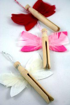 Xmas Dolly Peg Angel Decorations. $2.50, via Etsy.