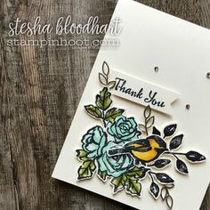 Petal Palette Stamp Set and Suite of Product by Stampin' Up! from 2018 Occasions Catalog Card Created by Stesha Bloodhart, Stampin' Hoot! #steshabloodhart #stampinhoot #petalpalette