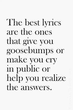 best lyrics
