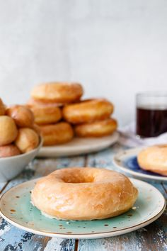 Make the softest glazed donuts and use your sourdough discard with this delicious sourdough discard donuts recipe! Make the same day, or rest the donuts overnight to prepare in the morning. Either way, you'll love the results! #sourdoughdiscard #donuts #glazeddonut #doughnutrecipe #brunchideas #breakfastideas Donut Recipes, Bread Recipes, Sourdough Doughnut Recipe, Donut Glaze, Sticky Buns, Baked Donuts, Dry Yeast, Sweet Recipes, Brunch