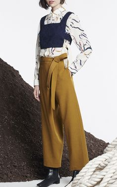 Asymmetrical Wrap Pant by WHIT for Preorder on Moda Operandi