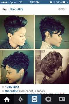 Short cuts for african american women| one cut, four styles