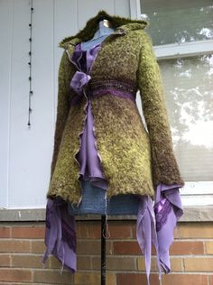 Restructured sweater Eco couture upcycling old clothes