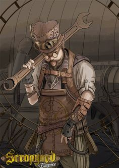 Jerry Riggsby is the best known builder around. Play his character in Scrapyard Empire and take down your opponents with precision! For more on the project visit our page: http://www.scrapyardempire.com   #steampunkbuilder #steampunkinventor #steampunkmen