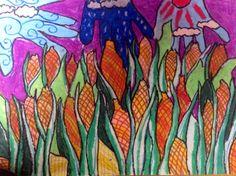 Haniel Kudwoli, St. Mary's Primary School, teacher Lisa Wee Eng Cheng, 1st Place Africa Region, GLOBE 2014 Calendar Art Competition