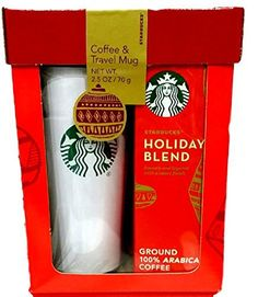 Starbucks Travel Mug & Coffee Gift Set-2015 Starbucks Holiday Blend Coffee Gift Set Packaged in Red Gift Box - http://mygourmetgifts.com/starbucks-travel-mug-coffee-gift-set-2015-starbucks-holiday-blend-coffee-gift-set-packaged-in-red-gift-box/