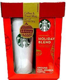 Starbucks Travel Mug & Coffee Gift Set-2015 Starbucks Holiday Blend Coffee Gift Set Packaged in Red Gift Box - http://mygourmetgifts.com/starbucks-travel-mug-coffee-gift-set-2015-starbucks-holiday-blend-coffee-gift-set-packaged-in-red-gift-box/