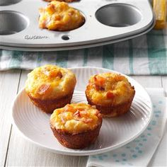 Cheddar Ham Cups Recipe -When a college classmate and I threw a party for our professor, a friend contributed these savory appetizers.  Everyone in the class requested the recipe before the party was done.  Try the cups with chicken instead of ham if you'd like. -Brandi Ladner Gulfport, Mississippi