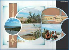 Avrnture_Voyage_CacelaVelha_Ouverte 12x12 Scrapbook, Scrapbook Paper Crafts, Scrapbooking Layouts, Algarve, Marianne Design, Hula, Album, Illusions, Diy And Crafts
