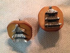 50s Cufflinks by Swank  Bamboo with by joyofvintagewithsam on Etsy, $30.00