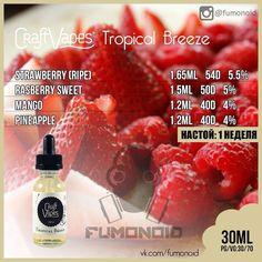 Tropical Brezze eliquid recipe #vape #vaping #ecig [arom-team.com]