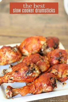 Slow Cooked Meals, Crock Pot Slow Cooker, Crock Pot Cooking, Slow Cooker Chicken, Bbq Chicken Legs Crockpot, Crock Pots, Crock Pot Drumsticks, Bbq Chicken Drumsticks, Recipes With Chicken Drumsticks