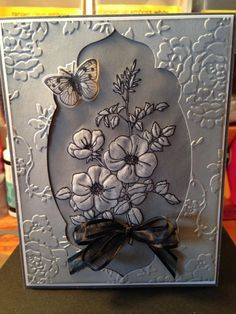 ideas how to mount parchment on to birthday cards - Google Search