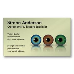 Optometrists business card priyan pinterest colourmoves