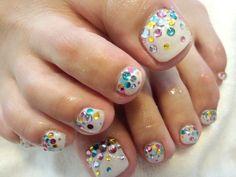 Glitter colorful image of nail   Jiyugaoka-Okusawa-Midorigaoka Nail Salon nail flavors staff blo ...