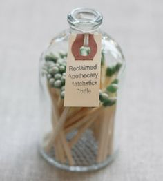 Apothecary Match Bottle.  I wonder if I could make one of these for the hall bathroom?