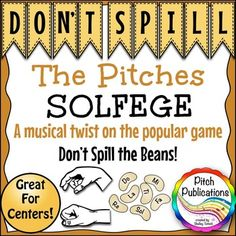 MUSIC CENTER: DON'T SPILL THE PITCHES! - SOLFEGE PITCH NOTE READING GAME - Perfect for centers and differentiation!  Kids will LOVE this game!  #elmused #kodaly #orff elementary music pitch centers