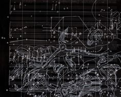 """#Olivia Marani  #""""Nigredo"""" #spartito per violoncello solo #disegno a penna su musiche di Francesco Guerri"""