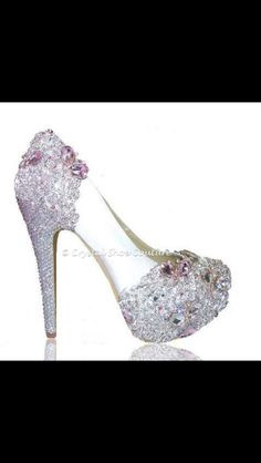 """""""Lolita"""" Various heel heights available Open or closed toe  www.crystalshoecouture.com"""