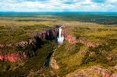 Aerial Jim Jim Falls in wet season, Kakadu National Park Kakadu National Park, National Parks, Australia Wallpaper, Landscape Photography, Travel Photography, Australia Pictures, Abandoned Cities, 100 Things To Do, Lake Mountain