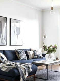 Image result for navy blue living room decor