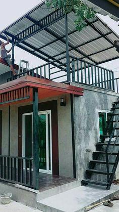 Village House Design, Bungalow House Design, Tiny House Design, New House Plans, Dream House Plans, Small House Plans, Rooftop Design, Terrace Design, House Construction Plan
