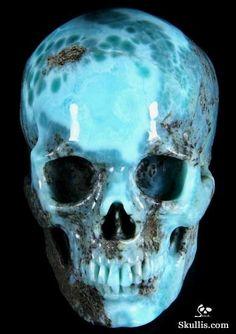 Larimar Crystal Skull