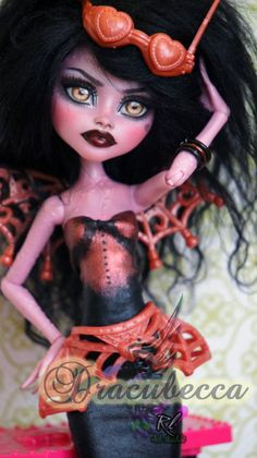 ~Dracubecca~ Monster High Dracubecca repaint by RogueLively on DeviantArt
