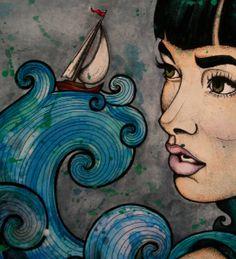 RookieDraftt - Watercolor & ink by Katie Kramer