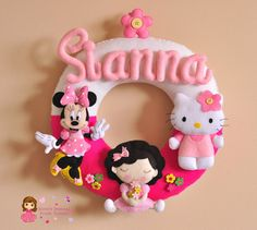 Baby Nursery Name Wall Decor - Hello Kitty and Minnie Mouse Theme
