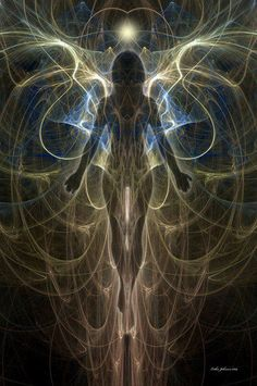 Aaron: The idea of sensing auras is amazing. Being able to see the flow of energy moving in someone else's body. It's an art. Art Visionnaire, Psy Art, Angel Art, Visionary Art, Psychedelic Art, Art Plastique, Sacred Geometry, Fantasy Art, Artwork