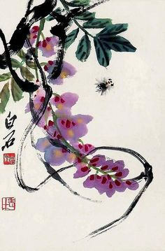 Blossoms - Painted by the contemporary artist Qi Baishi 齐白石.