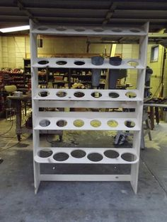 Custom storage rack for flower containers