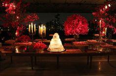 Decoración de boda en rojo. Imagen Boutique de tres