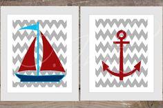 YOU PRINT Set of 2 digital nautical & chevron by OInkDesignStudio, $10.00