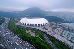 Busan, Korea | fan cam] Rain on the Busan Nationwide stage. | Cloud USA