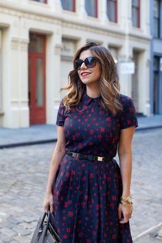 What to Wear to Work | Printed Dress