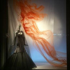 """BERGDORF GOODMAN, New York, """"5th Ave is once again blessed with our hard work at Bergdorfs and now with the amazing talents of artist Benjamin Shine Studio. These Tulle  portraits  will hypnotize you"""", photo by Sam Theis, pinned by Ton van der Veer"""