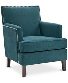 Perfect Kendall Fabric Accent Chair, Quick Ship   Blue