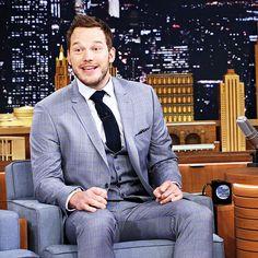 Chris Pratt visits 'The Tonight Show Starring Jimmy Fallon' at Rockefeller Center on April 24, 2015 in New York City.