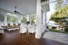 Beautiful Back Porches | beautiful large semi-enclosed back porch | patios and pools