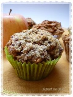 """Vegan Morning Glory Muffin"" - with apples, coconut, dried cranberries, and all sorts of other delicious stuff."