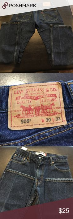 LEVI'S Straight Fit 505. Not sure if ever worn LEVI'S Straight Fit 505. Not sure if ever worn. 5 pocket detail. Perfect condition.30WX32L Levi's Jeans